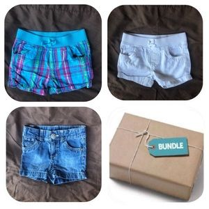 6/$15 3 Shorts Bundle Girls 18 Months